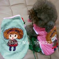 Summer Various Cute Pet Puppy Fashion Dog Clothes Girl Printed T Shirt Apparel LX0073 Free shipping&DropShipping