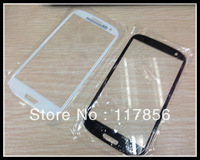 Front Screen Glass Lens for samsung Galaxy S3 i9300 Outer Digitizer Cover Glass Replacement Repair Parts black white color