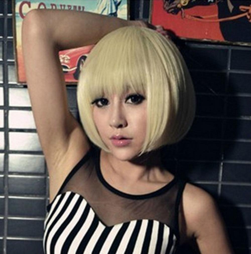 japonais 2013 style plein perruque courte femmes filles sexy de mode