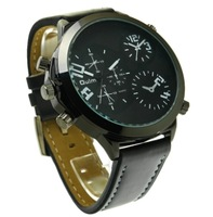 2013 Oulm Quartz Hours Fashion Genuine Leather Band Mens Military Wristwatches Sport Watch Men Watches WWM0065