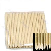 Free Shipping 1Pack 100pcs Nail Art Orange Wood Stick Cuticle Pusher Remover star8