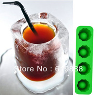 ICE TRAY Cup Silicone Ice Cube Corlorful DIY Popsicle Mold Ice Wine Glass Cake Stencil Baking Abrasives (Mini Order 10 Usd)