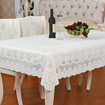 Modern vintage milky dining table cloth big round  6 dining table 8 dining table cloth measurement