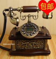 Antique telephone wood telephone fashion vintage telephone caller id