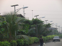 Nigeria-Solar Street Lights with Warm Light