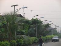Nigeria-Solar Street Lights with Warm Light