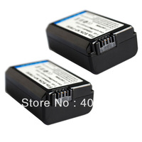 2pc digital cameras Battery NP-FW50 FW50 for Sony Alpha NEX 6 5R F3 5N 7K 5D 5C 7 C3 3 5 3C N7 6L 3N 3NL F3K SLT A55 a37 a33 a35
