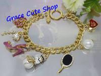 Free Shipping Snowman Charm Bracelet Pendant Bracelet Brand Jewelry 2 Color Top Quality Package (Dust bag,Gift Box) #JCB165