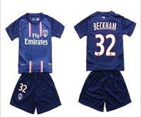 Thai 2013 Paris Saint Germain kids Jersey  Paris St German  Custom Jersey  Ibrahimovic Kids Jersey 18#  football kids