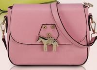 Korea Style Brand Fashion Wild PU leather Hit Color Shoulder Bag Handbag BG1256