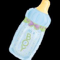 Free Shipping Anagram balloon male girl bottle cartoon baby birthday decoration aluminum balloon - helium