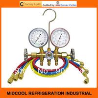 Good quality R12 R22 R502 refrigerant manifold pressure gauges,refrigeration tools air conditioning
