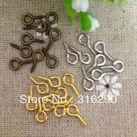 Wholesale DIY jewelry accessories 11 mm Eye bolts nails screws/ hang small needle /jewelry Findings/pendent 50pcs/lot