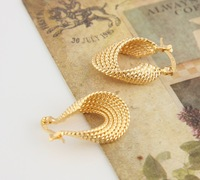 18k gold filled earring, free shipping