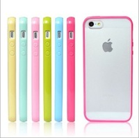 New Arrival Candy Color TPU Back Cover Protector Shell Skin Housing Case For Iphone 5 5th 5G Free&Drop Shipping