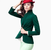New Fashion Deep Green&Black Slim Vent Casual Suit Women's Blazer Plus Size Jackets Cheap Sale,Free Shipping