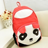 Cute!Korean cartoon panda canvas shoulder bag backpack schoolbag students backpack bag men and women