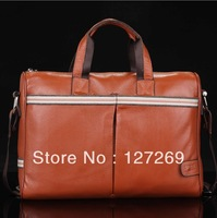 First Layer of Cow Leather Men Business Bags 2013 New Fashion Messenger Bag Casual Joker Multifunction Business bags WB0053