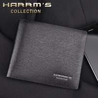 Male wallet male horizontal short design genuine leather wallet men's multi card holder wallet