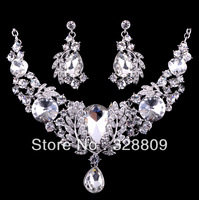 2013 Newest wedding jewelry sets 100% crystal bridal jewelry sets free shipping