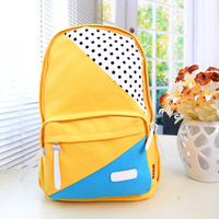 Free shipping Korean women canvas shoulder bag backpack schoolbag boys and girls middle school students computer bag