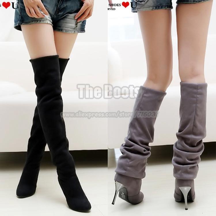 get cheap thigh high boots size 10 aliexpress