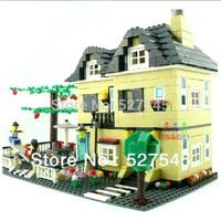 educational building blocks/assemble villa house /building model toy,children's toy