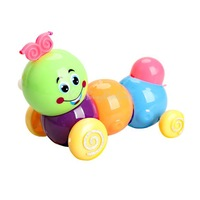 Cute Wind up Carpenterworm Cutworm Clockwork Spring Bug Children Toy  K5BO