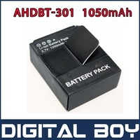 Digital Boy AHDBT-301/201 Replacement Battery AHDBT301 for GoPro Hero3 5M 11M 12P 1080P Camera Free Shipping #204E