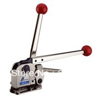 Free shipping  MH35 Manual Sealless Steel Strapping Tool Manual combination sealless steel strapping machine,buckless steel