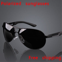 Hot sale!!! sunglasses polarized for men, large sunglasses male, driving mirror, uv 400, free shipping