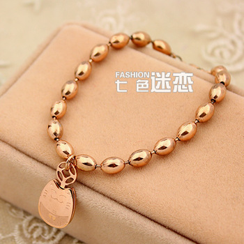 Good quality / Worth buying.Factory direct supply Totoro bracelet female fashion rose gold titanium jewelry girls accessories