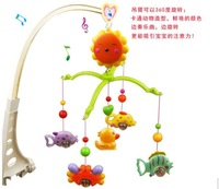 High Quality 0-1 year old Infant toys Music Mobile Bed Bell Baby Toy Colorful Bee Rotating Hanging Bed Rattle