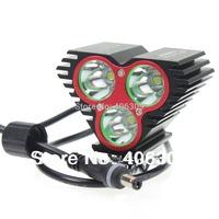 XY-S003 3U2 Mountain Bike Light /3*Cree XM-L U2 Bicycle Light Kit With 4*18650 Battery Set - Black Color+Free Shipping