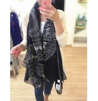 (MIX order $10)Han edition autumn/winter 2013 cotton and linen  fashion female super-long large cashew scarf shawl wholesale