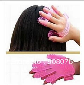 Best Selling!New Shampoo Brush Comb Massager Head Hair Scalp Care Massage 5 pcs/lot+Free Shipping(China (Mainland))