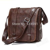 High Quality 2014 Men Vintage Messenger Bag Genuine Leather Shoulder Bags For Men Wholesale Bag