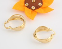 18k gold plated jewelry earring, free shipping