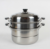 Beauty big steamer stainless steel steamer belt steaming tray 28cm soup pot