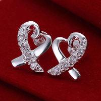 925 silver earrings 925 sterling silver fashion jewelry earrings beautiful earrings high quality Inlaid Seatangle Earrings