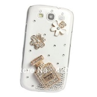 Clear Perfume Bottle Diamond Bling Cover Case For Samsung Galaxy S3 S III i9300, Free Shipping