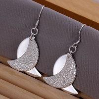 925 silver earrings 925 sterling silver fashion jewelry earrings beautiful earrings high quality Gloss Moon Earrings