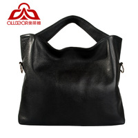 2013 women's handbag fashion genuine leather first layer of cowhide sewing thread vertical cross-body handbag