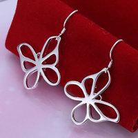 925 silver earrings 925 sterling silver fashion jewelry earrings beautiful earrings high quality Butterfly Earrings