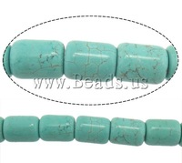 Free shipping!!!Turquoise Beads,Jewelry Fashion, Natural Turquoise, Tube, blue, 19x15mm, Hole:Approx 1mm, Length:Approx 14 Inch