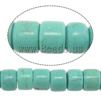 Free shipping!!!Turquoise Beads,Clearance, Natural Turquoise, Rond, blue, 7.50x10mm, Hole:Approx 1mm, Length:Approx 15.5 Inch