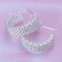 925 silver earrings 925 sterling silver fashion jewelry earrings beautiful earrings high quality Weaved Web Earrings