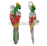Free shipping!!!Zinc Alloy Animal Pendants,Female Jewelry, with rhinestone, nickel, lead & cadmium free, 58x13x12mm