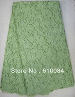 FREE shipping by DHL,korea organza sequins lace fabric,for party,wedding,OZ10 green, 5yards/pc