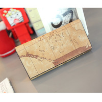 Tomboy 2013 man bag fashion map wallet men's long design wallet